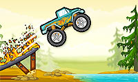 Monster truck contro foresta