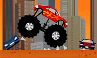 Beuken met je monstertruck